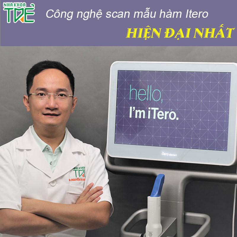 Xem trước nụ cười mới với máy Scan mẫu hàm Itero hiện đại