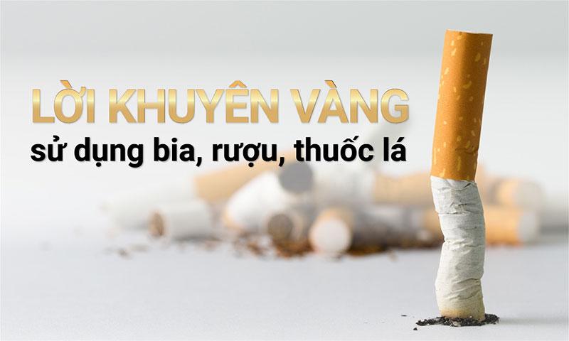 Lời khuyên của bác sĩ là không sử dụng thuốc lá, chất kích thích trước và sau khi trồng răng Implant