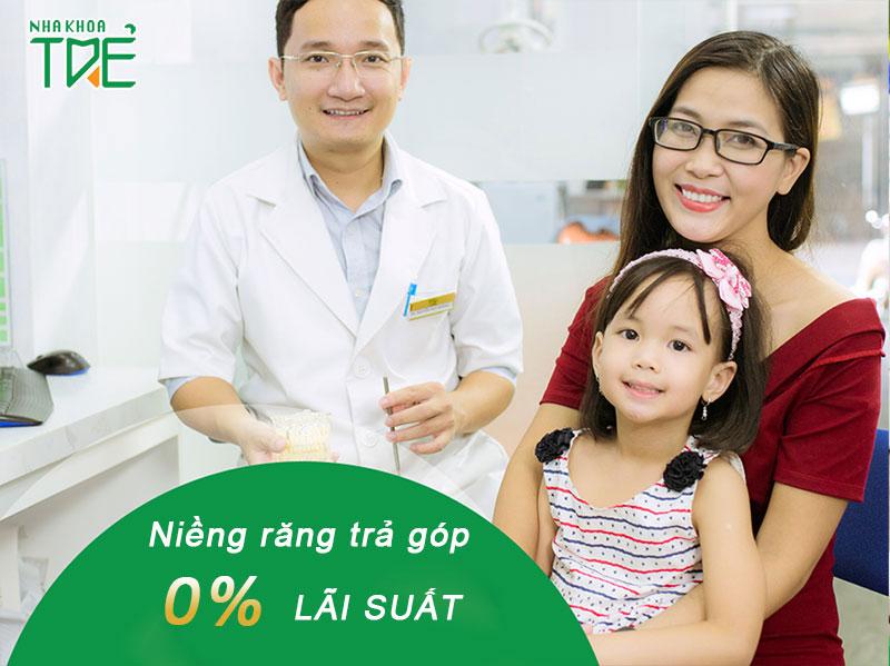 Niềng răng trả 0% lãi suất cùng Nha khoa Trẻ