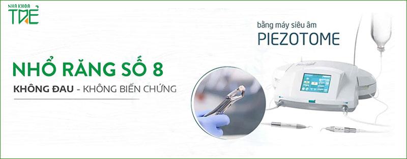 Nhổ răng khôn công nghệ siêu âm Piezotome không gây đau nhức cho bạn