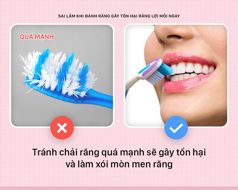 Đánh răng sai cách gây tổn hại răng lợi mỗi ngày