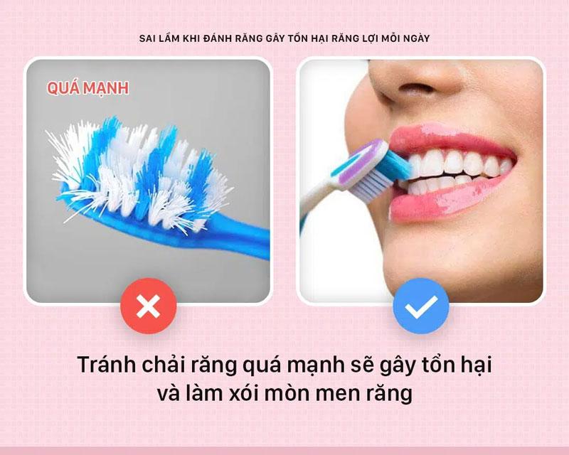 Vệ sinh răng miệng sai cách gây ra tụt lợi chân răng