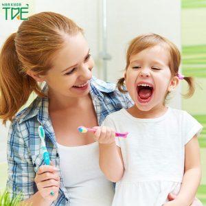 Đánh răng đúng cách cho bé với 6 bước cơ bản