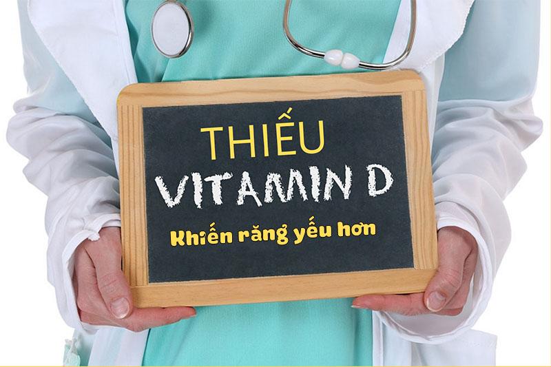 Răng yếu có thể do thiếu vitamin D