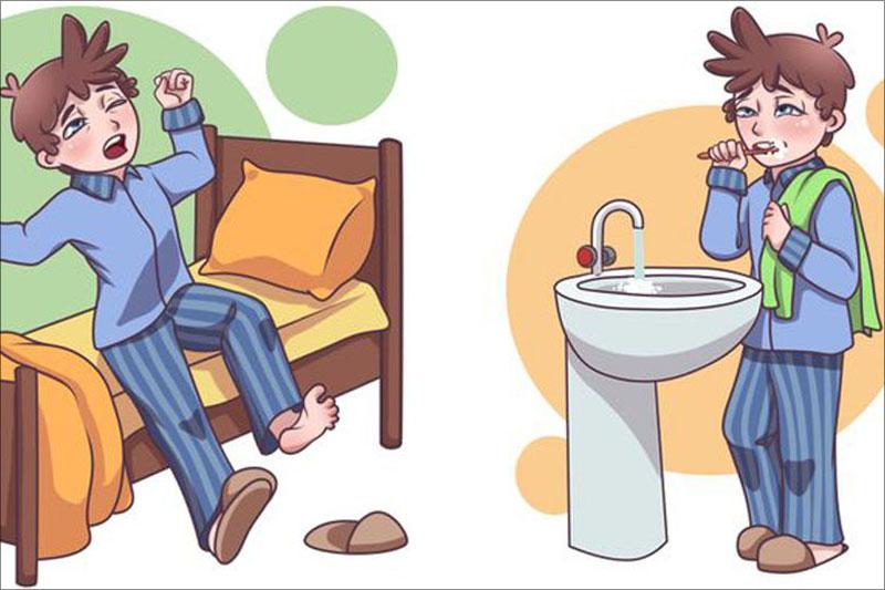 Sau khi ngủ dậy thì nên đánh răng trước khi ăn sáng