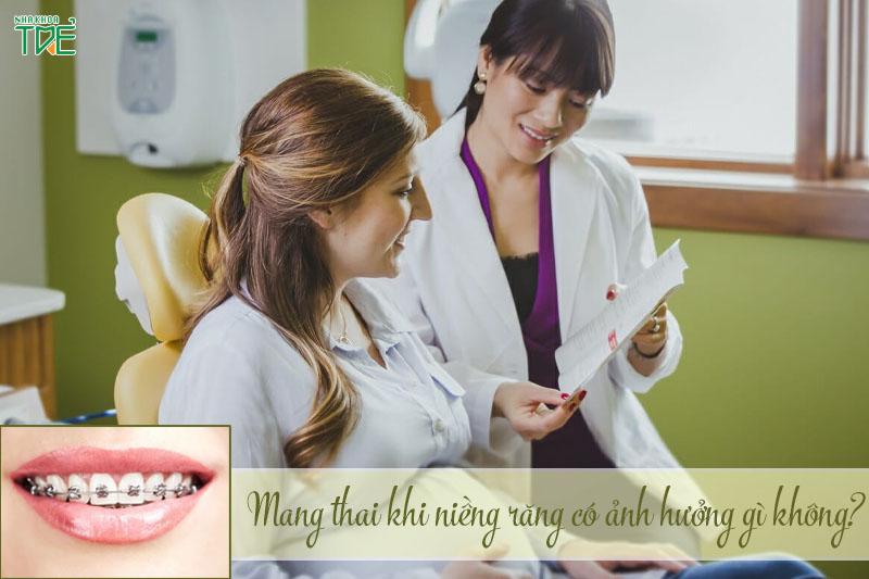Mang thai khi đang niềng răng có ảnh hưởng đến thai nhi không?